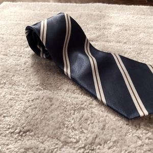 👔Striped -hand sewn-Blue, red and white mens tie
